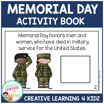 Memorial Day Activity Cut & Paste Book