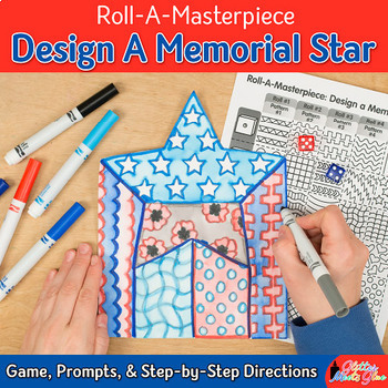 Memorial Day Activity: Design a Star Dice Game, Art Sub Plan, & Writing Prompts