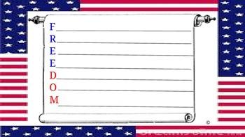 "Memorial Day Activity--""Freedom"" Alphabet poem"