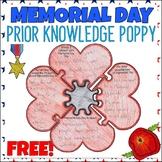 FREE Memorial Day Activity | Prior Knowledge Poppy