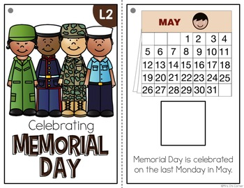 Memorial Day Adapted Books ( Level 1 and Level 2 )