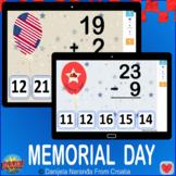 Memorial Day Addition Subtraction within 25 Bundle Memoria