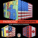 Patriotic Agamographs: Great for Memorial Day and/or Remem