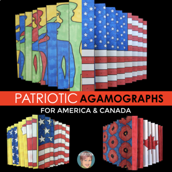 Patriotic Agamograph Set: Great for Veterans Day (and Remembrance Day Canada)