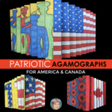 Patriotic Agamograph Set: Great for 4th of July and/or Remembrance Day Canada