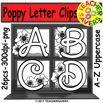 Memorial Day Alphabet Clip Set