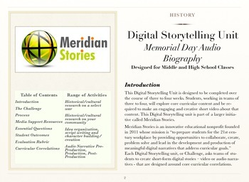 Memorial Day Audio Biography- Community-Based Digital Narrative