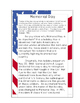 Memorial Day: Author's Purpose/Text Evidence/Sequencing/Main Idea/