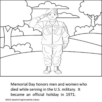 Memorial Day Bilingual Mini Booklet