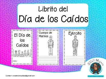 Memorial Day -Mini Book in Spanish/Día de los Caídos -