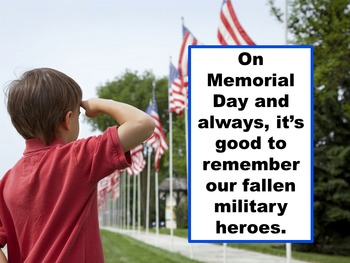 #teachersremember Memorial Day Power Point
