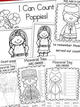 Memorial Day Bundle of Math & Literacy Activities {70+ pages}