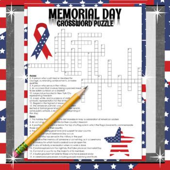 Memorial Day Activity: Crossword Puzzle