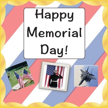 Memorial Day - Celebrate Memorial Day with this activity
