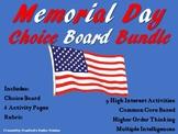 Memorial Day CHOICE BOARD BUNDLE Menu No Prep 6 Activity P