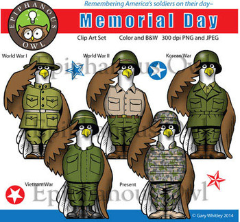 Memorial Day Clip Art Set