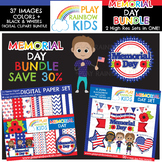 Memorial Day Clipart + Paper Bundle