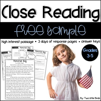 Memorial Day Close Reading
