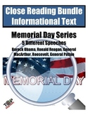 Memorial Day Close Reading Bundle Great Speeches