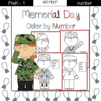 Memorial Day Color by Number