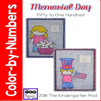 Memorial Day Color-by-Number
