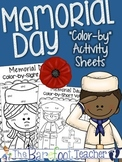 "Memorial Day ""Color-by"" Sheets {short vowels, tally marks, & sight words}"