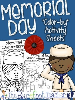 """Memorial Day """"Color-by"""" Sheets {short vowels, tally marks,"""