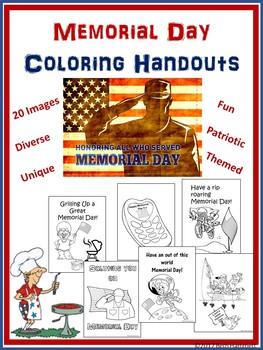 Memorial Day Coloring Handouts
