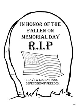 Memorial Day Coloring Sheets