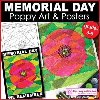 Memorial Day Coloring Pages - Poppies and Posters