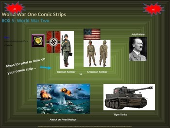 Memorial Day Comic Strip Activity: summarize wars the US has been involved in