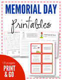 Memorial Day Copywork and Printables