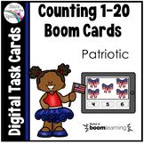 July 4th Counting 1 - 20 Boom Cards