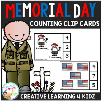 Memorial Day Counting Clip Cards