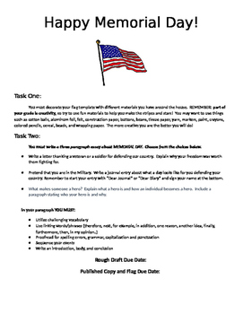 Memorial Day Creative Writing