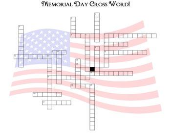 Memorial Day Cross Word Challenge!