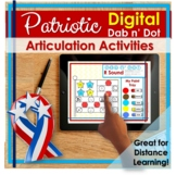 Memorial Day DIGITAL Articulation Activities Speech Therapy   Distance Learning