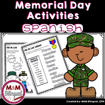Memorial Day - Día de los Caídos Spanish Activities