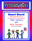 Veteran's Day Decomposing & Composing Numbers on the Smart Board