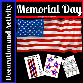 4th of July / Memorial Day Decoration and Activity pack