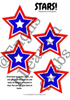 Memorial Day Decoration and Activity pack