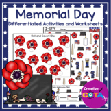 Memorial Day Differentiated Activities and Worksheets