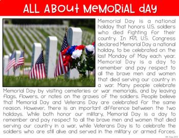 Memorial Day Digital Activities