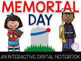 Memorial Day Digital Notebook Distance Learning {PRINT & DIGITAL}