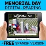 Memorial Day Reading Comprehension for Google Classroom