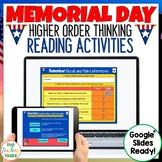 Memorial Day Google Classroom Reading Activities | Digital