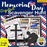 Memorial Day Digital Scavenger Hunt: Google Slides & Googl