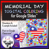 Memorial Day Distance Learning Digital Coloring Pages for