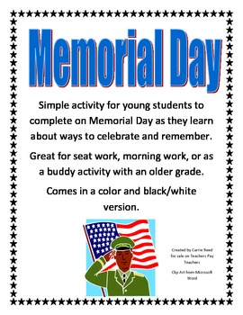 Memorial Day Drawing Activity for Lower Elementary