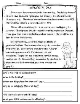Memorial Day ELA Bundle